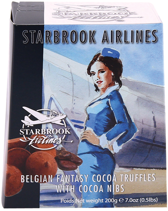 Starbrook Cocoa Dusted Truffles-Cocoa Nibs 7.0oz